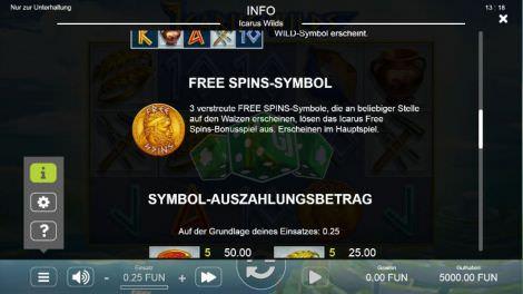 Freispiel Symbol