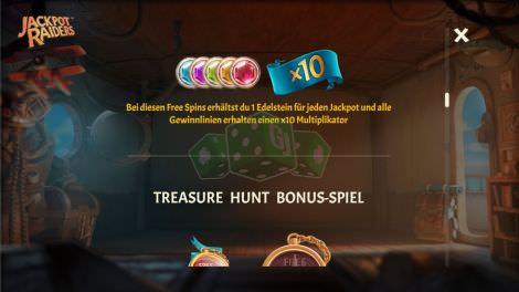Treasure Hunt Bonus Spiel