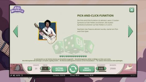 Pick and Click Funktion