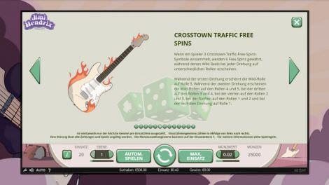 Crosstown Traffic Free Spins