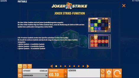 Joker Strike Funktion