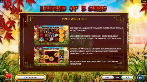 Spin n Win Bonus