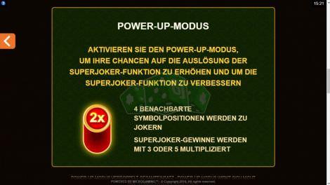 Power Up Modus