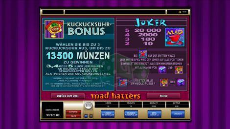 Kuckucksuhr-Bonus & Joker