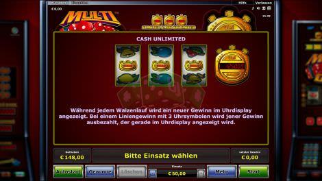 Cash Unlimited Funktion