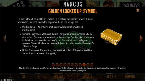 Golden Locked Up Symbol