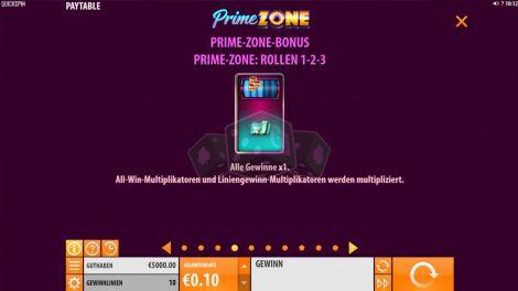 Prime Zone Bonus