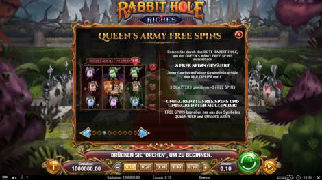 Queens Army Free Spins