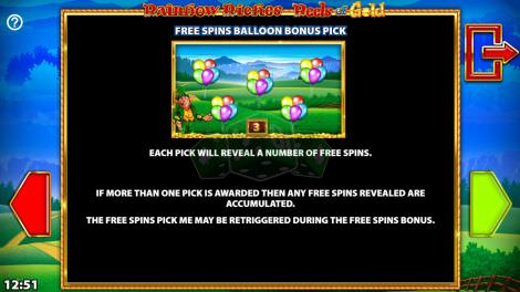 Free Spins Balloon Bonus Pick
