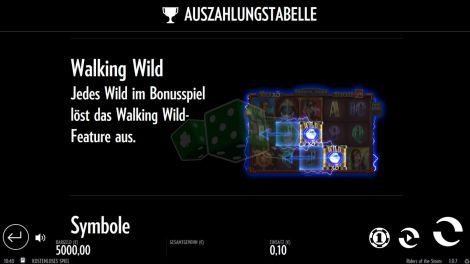 Das Walking Wild Feature bei Riders of the Storm
