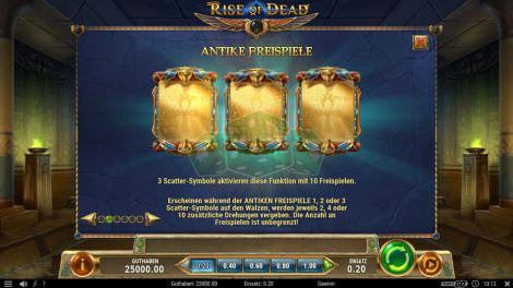 Freispiel-Scatter bei bei Rise of Dead