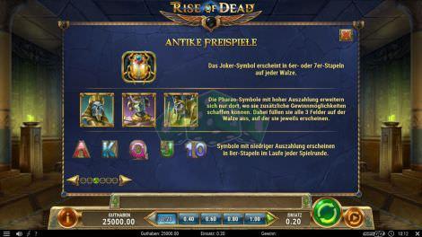 Freispiele bei Rise of Dead