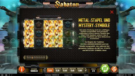 Metal Stapel Mystery Symbole