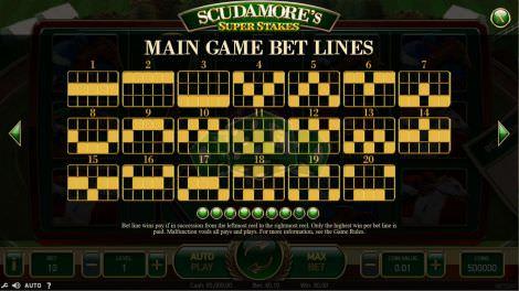 Basisspiel Gewinnlinien