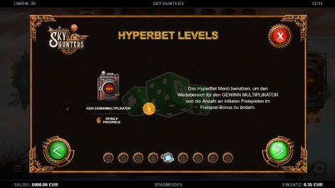 Hyperbet Levels