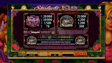 Starlight Kiss & Einzelgewinne