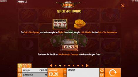 Quick Slot Bonus