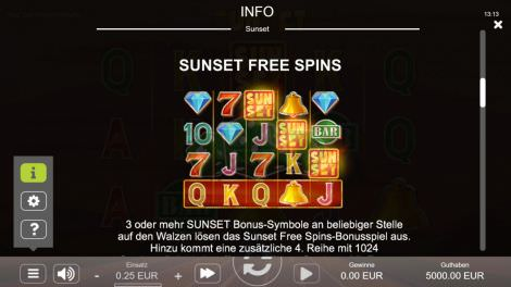 Sunset Free Spins