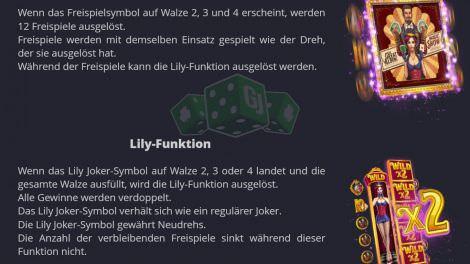 Freispiele und Lily-Feature