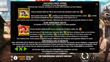 Freispiele bei The Great Chicken Escape
