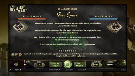 Bonus Game & Police Spins