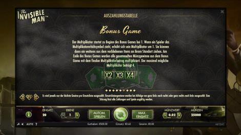 Bonus Game Multiplikator