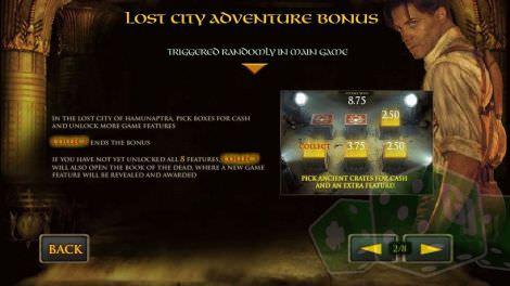 Lost City Adventure Bonus