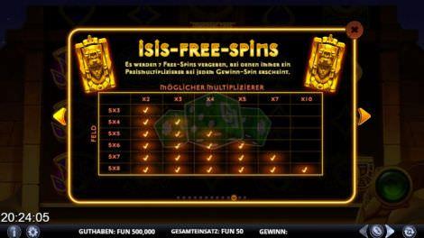 Isis Freispiele