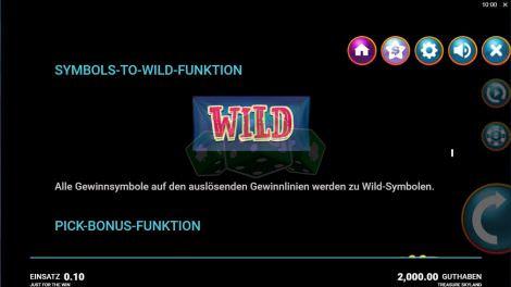 Symbols To Wild Funktion