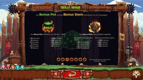 Die Basisgame Bonusfeatures