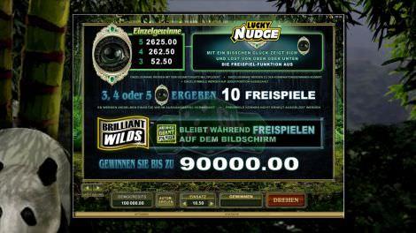 Einzelgewinne & Lucky Nudge & Brilliant Wilds