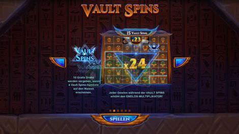 Die Vault Spins - Freispiele
