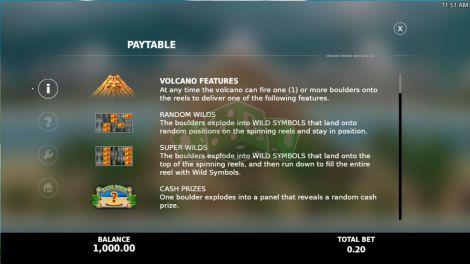 Volcano Features