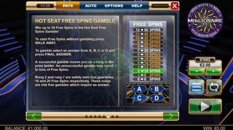Gamble-Funktion für Freispiele