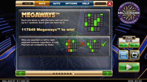 Die Megaways Gewinnlinien