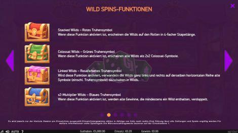Wild Spins Funktionen
