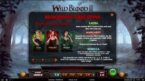 Bloodlust Free Spins