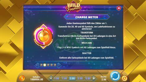 Das Charge-Meter bei Wild Frames