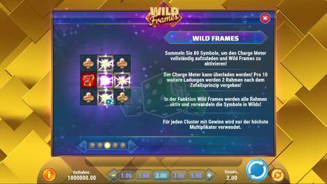 Die Bonusfeatures bei Wild Frames