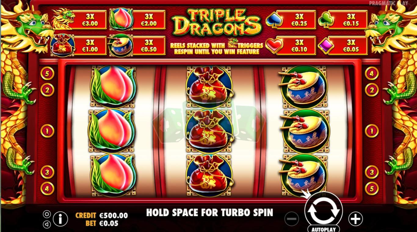 Мобильная версия triple dragons тройной дракон игровой автомат калькулятор догона ставок