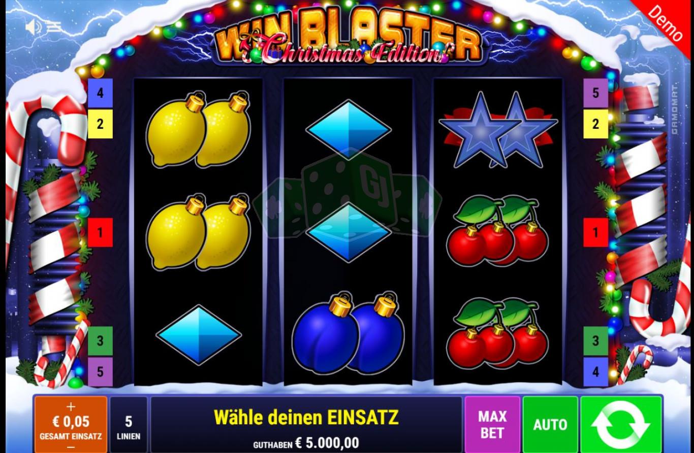 win blaster christmas edition™ bally wulff  jetzt online