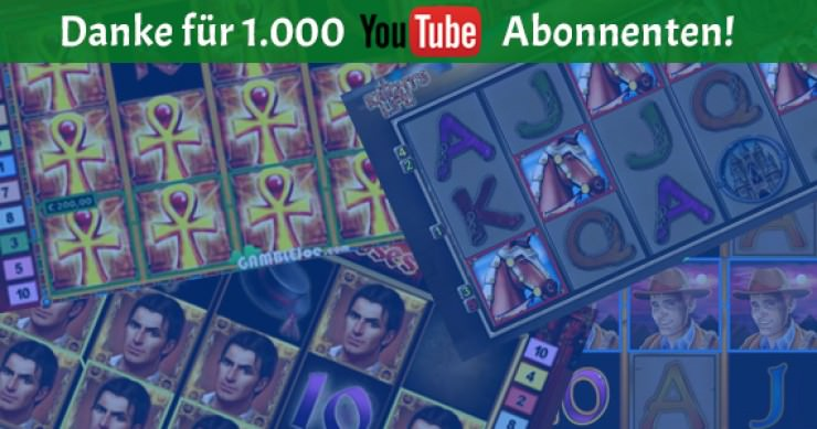 Danke für 1.000 Abonnenten bei YouTube!