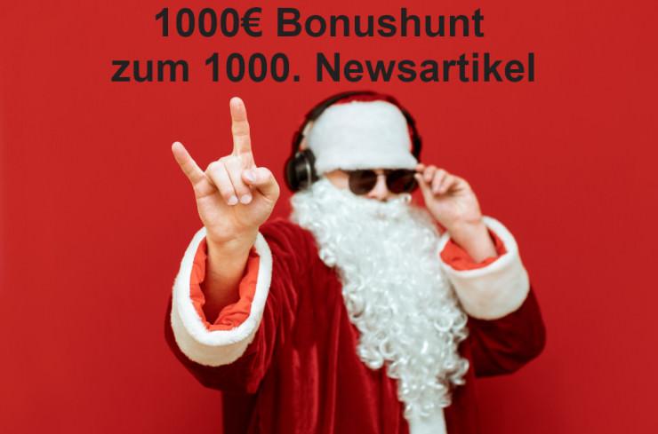 Low Stakes Spieler Bonushunt mit 1.000 € - das große News-Jubiläum