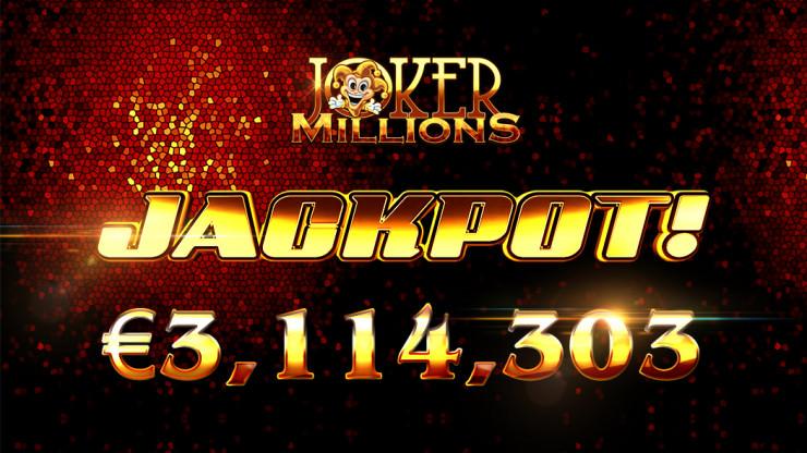 Joker Millions Jackpot bei 3,1 Millionen Euro geknackt