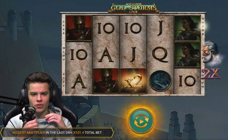 Neues Playtech Live Spiel - Age of the Gods: God of Storms Community Live Slots