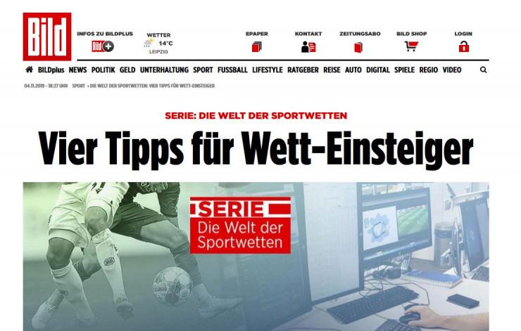 """""""Die Welt der Sportwetten"""": Lohnen sich die Bild-Plus-Artikel?"""