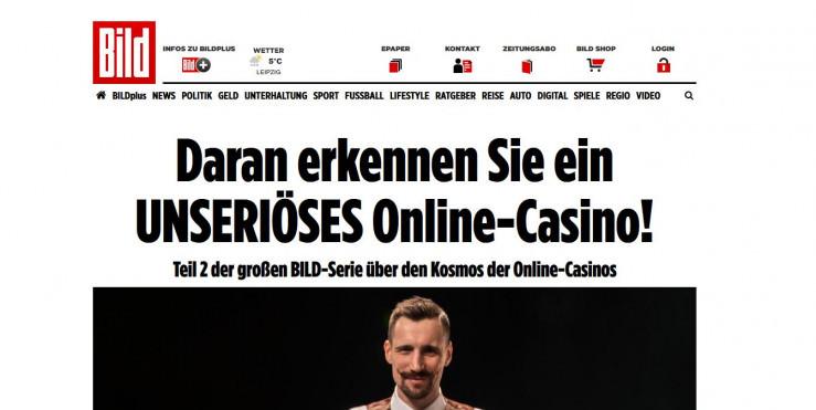 """Die neue Reihe """"Kosmos der Online Casinos"""": Lohnen sich die Bild-Plus-Artikel?"""