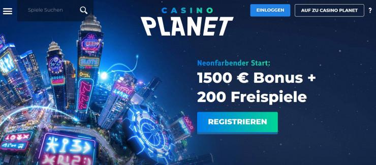 Neu auf GambleJoe: Erfahrungen mit Casino Planet im ersten Test