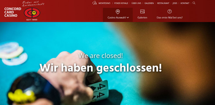 Österreich: Concord Card Casinos endgültig geschlossen