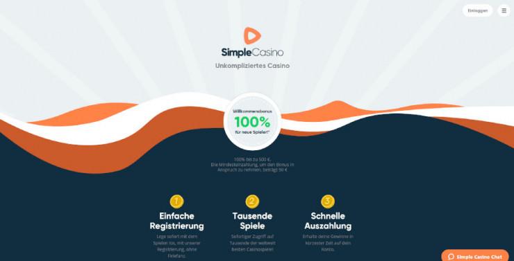 Neu auf GambleJoe: Erste Erfahrungen mit SimpleCasino im Test
